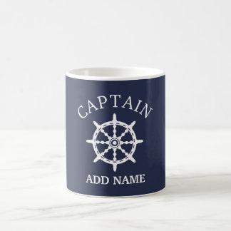 Taza De Café Capitán del barco (personalice a Name de capitán)
