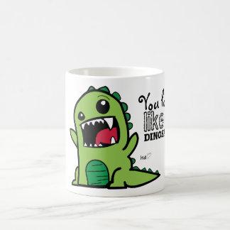 Taza De Café Cara del dinosaurio