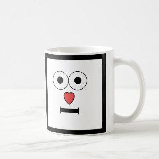 Taza De Café Cara sorprendida con la nariz del corazón