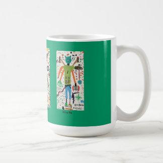 Taza De Café Caracteres de la imaginación de Brian Dodd