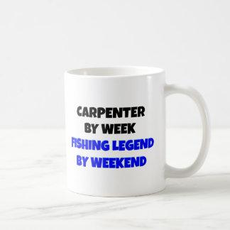 Taza De Café Carpintero de la leyenda de la pesca