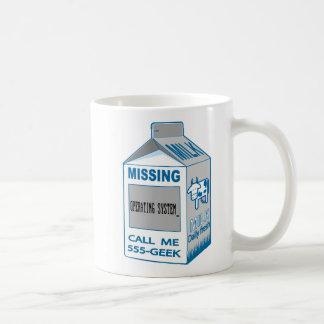 Taza De Café Cartón de la leche que falta actuando el system_