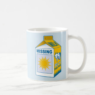 Taza De Café Cartón de la leche que falta Sun