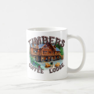 Taza De Café Casa de campo del café de las maderas