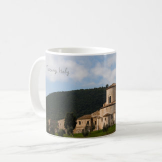 Taza De Café Casa del paisaje del campo de Toscana, Italia