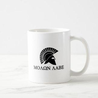 Taza De Café Casco espartano Molon Labe