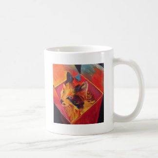 TAZA DE CAFÉ CAT COLORIDO DEL ARTE POP