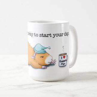 Taza De Café Cavy. La mejor manera de comenzar su día. (Taza)