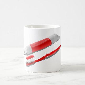 Taza De Café Cepillo de dientes y crema dental