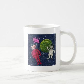 Taza De Café Cerdo, mapache y elefante rosado