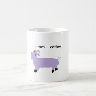 Taza De Café cerdo púrpura, mmm… café