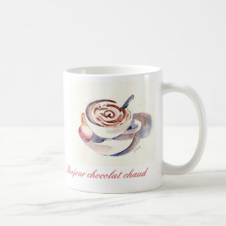 Taza De Café Chaud del chocolat de Bonjour