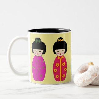 Taza de café china de los chicas