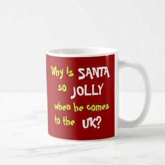 Taza De Café Chiste divertido Reino Unido del navidad del