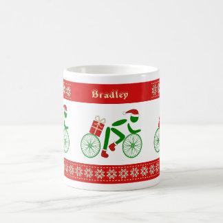 Taza De Café Ciclistas conocidos de encargo del navidad