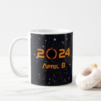 Taza De Café Cielo estrellado de la fecha total del eclipse