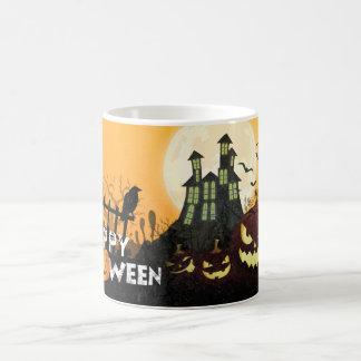 Taza De Café Cielo nocturno fantasmagórico Halloween del traje