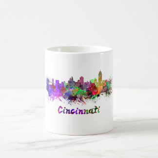 Taza De Café Cincinnati skyline in watercolor