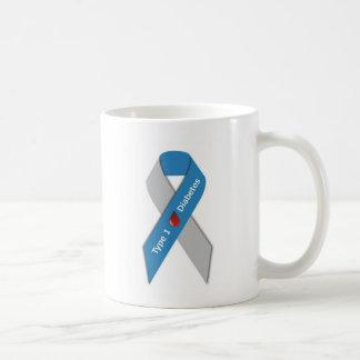 Taza De Café Cinta de la conciencia de la diabetes del tipo 1