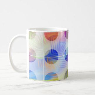 Taza De Café círculo del ed del color