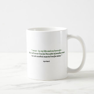 Taza De Café Cita de Ayn Rand