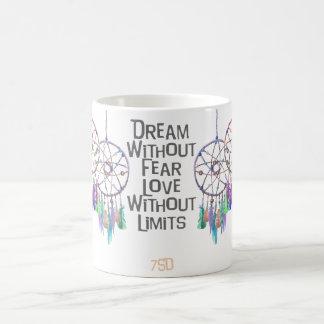 Taza De Café Cita de la acuarela de Dreamcatcher