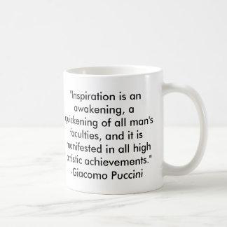 Taza De Café Cita de Puccini