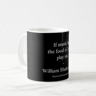 Taza De Café Cita del amor de William Shakespeare