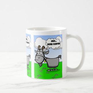 Taza De Café Cita divertida de la cabra del dibujo animado