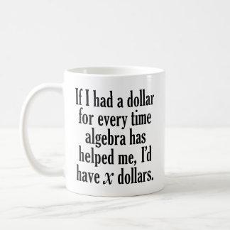Taza De Café Cita divertida de la matemáticas/de la álgebra -