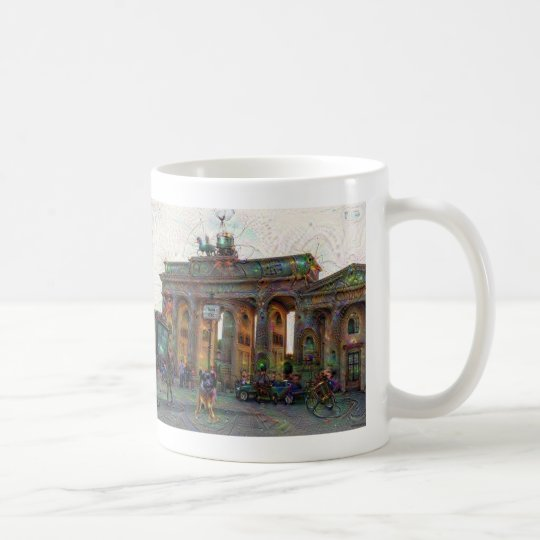 Taza De Café Ciudades de DeepDream, puerta de Brandeburgo,