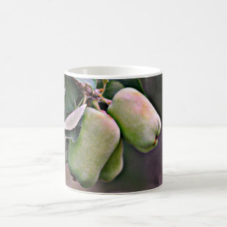 Taza de café clásica de las manzanas verdes
