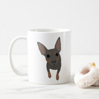 Taza de café clásica del amante mínimo del Pin