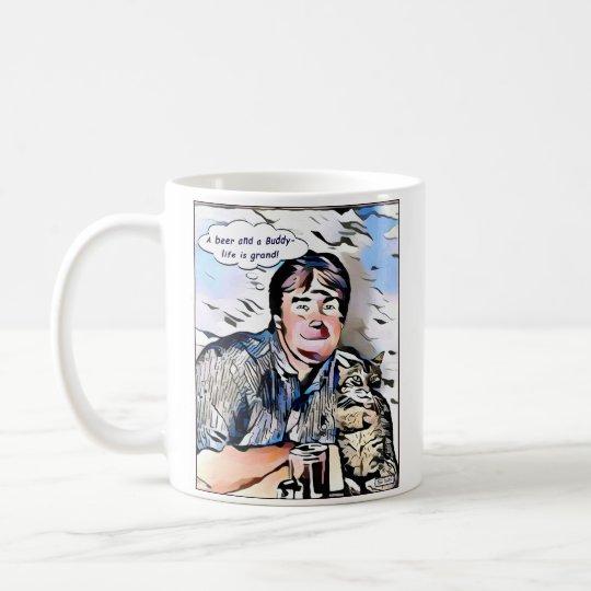 Taza de café clásica del dibujo animado -11oz de
