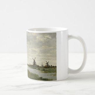 Taza De Café Claude Monet - los molinoes de viento acercan a