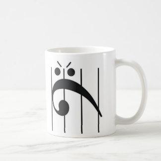 Taza De Café Clef bajo enojado