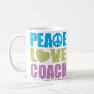 Taza De Café Coche del amor de la paz