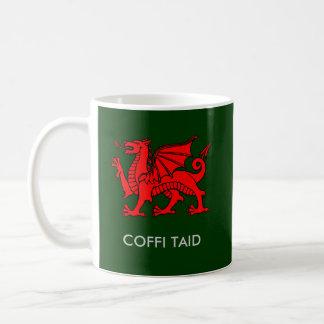 Taza De Café Coffi Taid - el café del Grandad en Galés