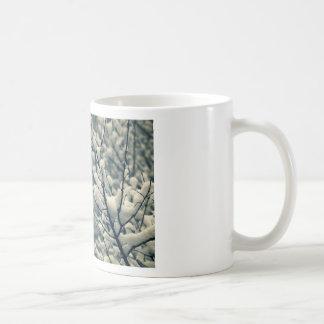 Taza De Café Cojín de ratón del árbol Nevado