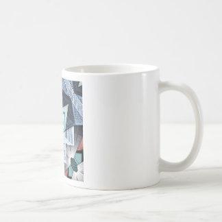 Taza De Café Collage estructural abstracto