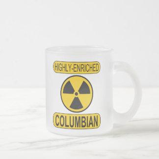 Taza de café colombina enriquecida escarchada de