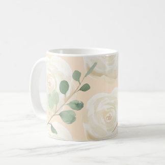 Taza De Café Color de rosa floral de la primavera