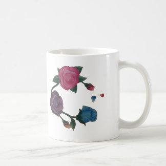 Taza De Café Color de rosa púrpura rosado