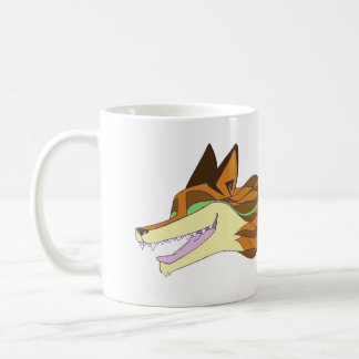 Taza De Café Color original vivo del Fox violentamente