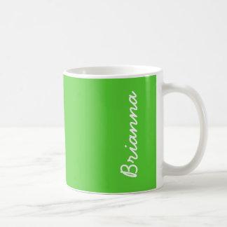 Taza De Café Color sólido de la verde lima