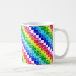 Taza De Café Coloreado en cuadrados del papel cuadriculado