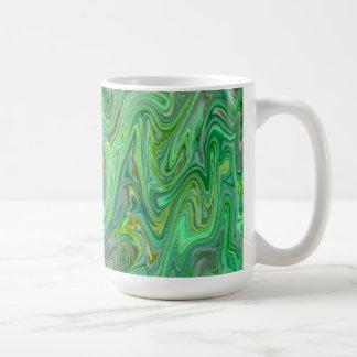 Taza De Café colores cremosos, verdes