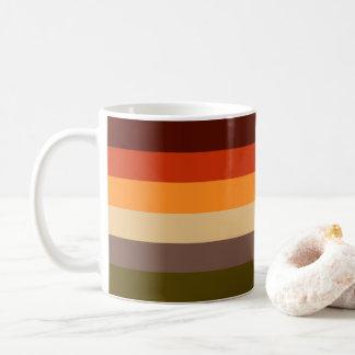 Taza De Café Colores del otoño - verde rojo Brown del moreno