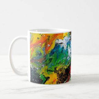 Taza de café colorida hermosa del diseño del arte