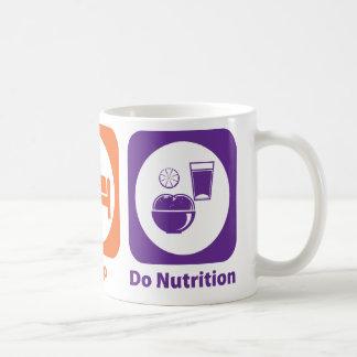 Taza De Café Coma el sueño hacen la nutrición